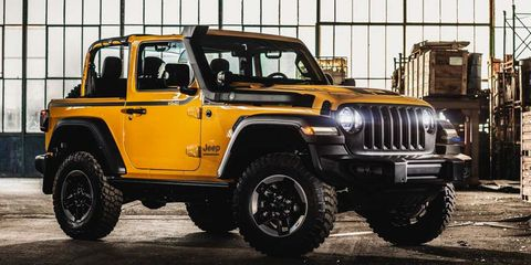 Land vehicle, Vehicle, Car, Jeep, Automotive tire, Tire, Off-road vehicle, Motor vehicle, Jeep wrangler, Yellow,