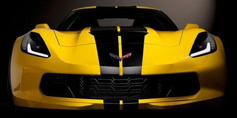 Land vehicle, Vehicle, Car, Sports car, Supercar, Automotive design, Yellow, Performance car, Corvette stingray, Auto show,