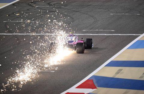 Race track, Asphalt, Formula one, Light, Vehicle, Automotive tire, Radio-controlled car, Mode of transport, Race car, Tire,
