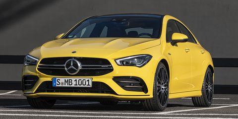 Land vehicle, Vehicle, Car, Automotive design, Performance car, Motor vehicle, Personal luxury car, Yellow, Mercedes-benz, Mid-size car,