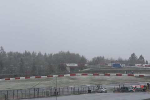 Race track, Sport venue, Vehicle, Racing, Road, Winter, Fence, Car, Auto racing, Subcompact car,