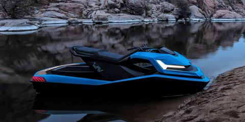 Water transportation, Blue, Vehicle, Personal water craft, Boating, Jet ski, Recreation, Automotive design, Watercraft, Electric blue,