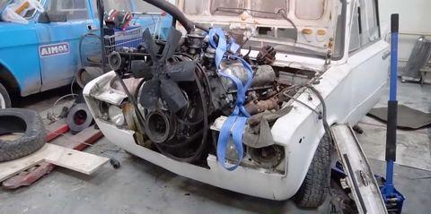 Motor vehicle, Vehicle, Car, Engine, Auto part, Scrap, Automobile repair shop, Crash,