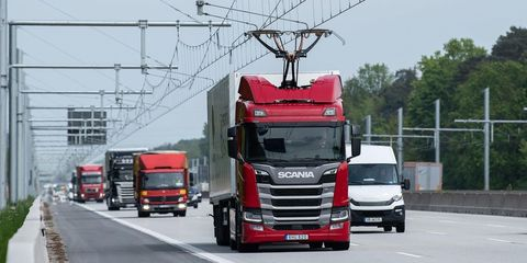 Land vehicle, Vehicle, Transport, Mode of transport, Truck, trailer truck, Commercial vehicle, Motor vehicle, Car, Product,
