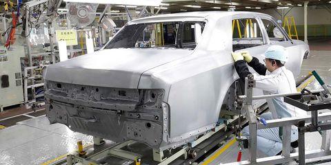 Vehicle, Motor vehicle, Car, Factory, Luxury vehicle, Machine,