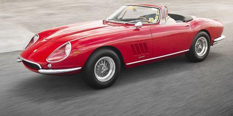 Tire, Wheel, Mode of transport, Vehicle, Automotive design, Car, Red, Automotive lighting, Fender, Classic car,