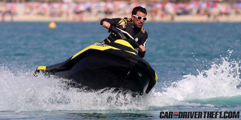 Eyewear, Watercraft, Recreation, Water, Leisure, Goggles, Sunglasses, Personal protective equipment, Personal water craft, Jet ski,