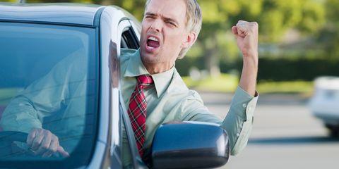 Dress shirt, Collar, Tie, Vehicle door, White-collar worker, Reading, Luxury vehicle, Family car, Businessperson, Gadget,