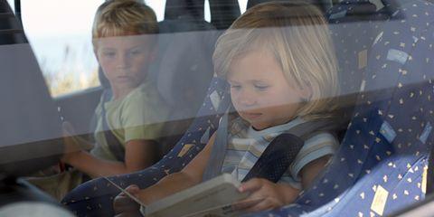 Head, Comfort, Car seat, Vehicle door, Blond, Passenger, Automotive window part, Head restraint, Seat belt, Car seat cover,