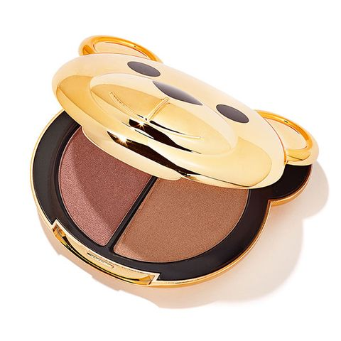 Eye shadow, Yellow, Product, Eye, Brown, Beige, Face powder, Cosmetics, Material property,
