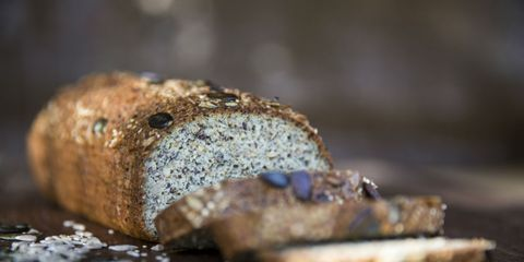 Brown, Bread, Baked goods, Photography, Close-up, Gluten, Rye bread, Brown bread, Snack, Beige,