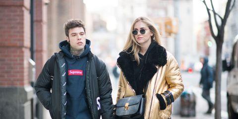 Street fashion, Photograph, People, Fashion, Fur, Jacket, Snapshot, Standing, Jeans, Street,