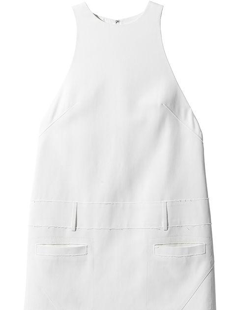 Clothing, White, Dress, Day dress, One-piece garment, Cocktail dress, Outerwear, Sheath dress, Neck, A-line,