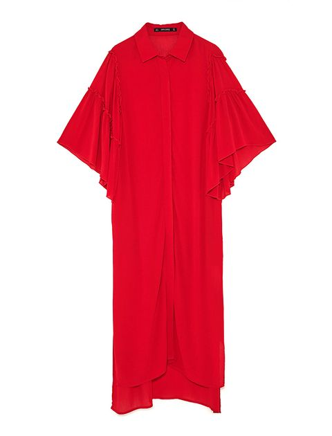Clothing, Red, Sleeve, T-shirt, Pink, Outerwear, Active shirt, Sportswear, Costume, Jersey,