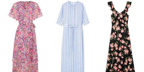 Clothing, Day dress, Dress, Pink, Pattern, Pattern, Sleeve, Nightwear, Vintage clothing, Robe,