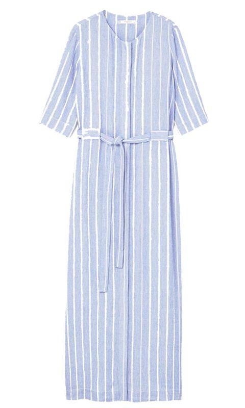 Blue, Sleeve, Collar, Textile, Pattern, Dress, Electric blue, One-piece garment, Cobalt blue, Lavender,