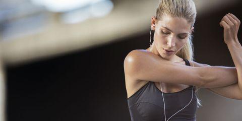 Human body, Shoulder, Elbow, Joint, Sportswear, Waist, Chest, Trunk, Muscle, Abdomen,