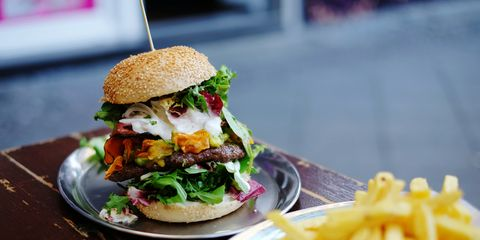 Food, Cuisine, Finger food, Sandwich, Dish, Leaf vegetable, Fried food, Ingredient, Dishware, French fries,