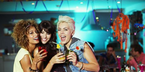 Smile, Drink, Alcoholic beverage, Alcohol, Tableware, Drinkware, Barware, Distilled beverage, Fashion accessory, Wine glass,