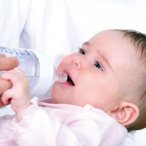 Baby, Child, Product, Face, Nose, Baby bottle feeding, Skin, Bottle, Cheek, Beauty,