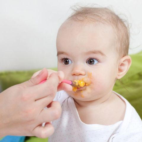 Child, Toddler, Baby, Baby playing with food, Eating, Baby food, Biting, Food, Vegetarian food, Fruit,