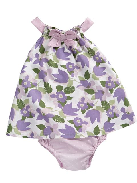 5012b3861 Vestido de tirantes con estampado floral y braguita malva