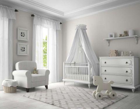 El color de la pintura de la habitación del bebé
