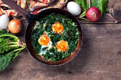 receta espinacas con huevo