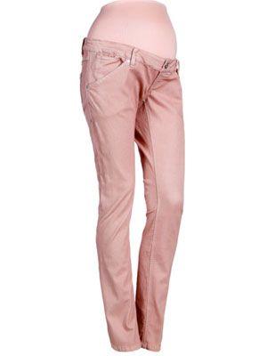 be5521693 Pantalón vaquero con corte pitillo y cintura baja con bolsa para la tripa.  Composición 75% algodón