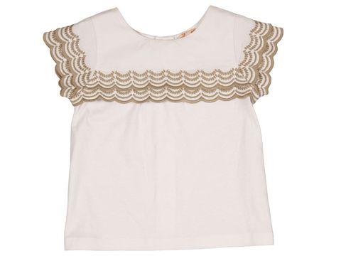 20a0d323a Elegante camisa de manga corta con ondas bordadas en piedra. Perfecta para  ir de fiesta. www.gocco.es (19,95 €)