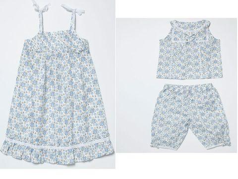 5776bcac3db6 Dos modelos en estampado azul. Son muy cómodos. El camisón tiene tirantes y  la camisola del pijama no tiene mangas. 39.95 € cada uno de los conjuntos.