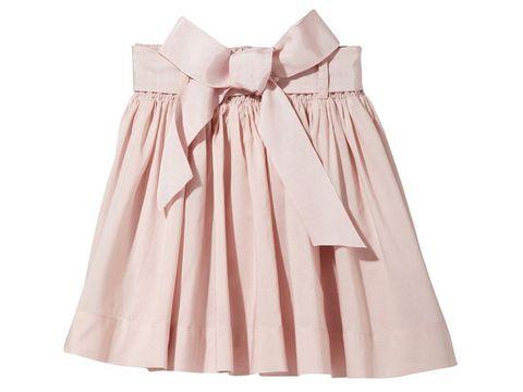 0d3a676b9 A tu hija le encantará esta falda de gasa adornada con un cinturón de  otomán con lazo, que cierra con automáticos. (26,32 €)
