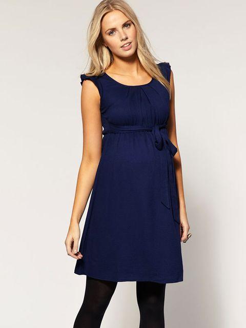 Vestido sin mangas en azul índigo 45543679b621