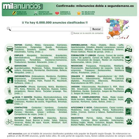 e636c8a1e460 Uno de los éxitos del portal Milanuncios es la sencillez de su diseño