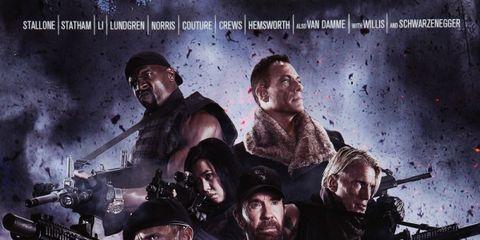 Face, Head, Entertainment, Poster, Movie, Action film, Hero, Fictional character, Air gun, Artwork,
