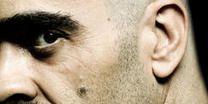 Nose, Facial hair, Lip, Cheek, Hairstyle, Skin, Chin, Forehead, Eyebrow, Text,