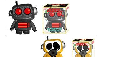 Toy, Technology, Animation, Fictional character, Machine, Animated cartoon, Graphics, Baby toys, Plastic,