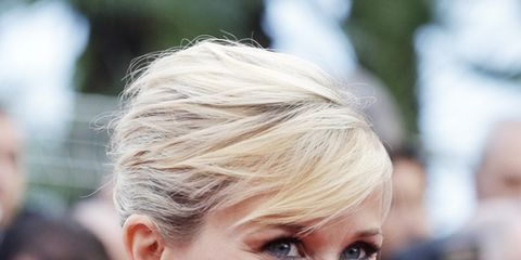 Clothing, Hair, Face, Ear, Hairstyle, Eyelash, Earrings, Style, Fashion, Beauty,