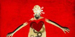 Red, Font, Advertising, Poster, Illustration, Graphic design, Symbol, Publication, Costume design, Graphics,