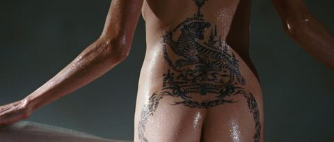 Skin, Joint, Muscle, Wrist, Pattern, Tattoo, Back, Temporary tattoo, Nail, Close-up,