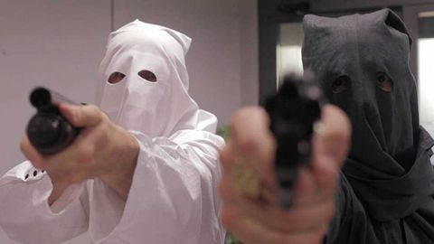Finger, Thumb, Mask, Glove, Safety glove, Photographer, Reflex camera, Camera lens, Cuff,