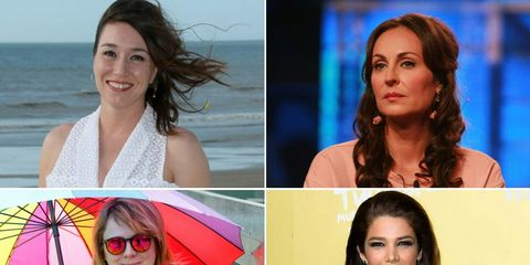 Hairstyle, Happy, Facial expression, Summer, Beauty, Jacket, Travel, Collage, Sunglasses, Umbrella,