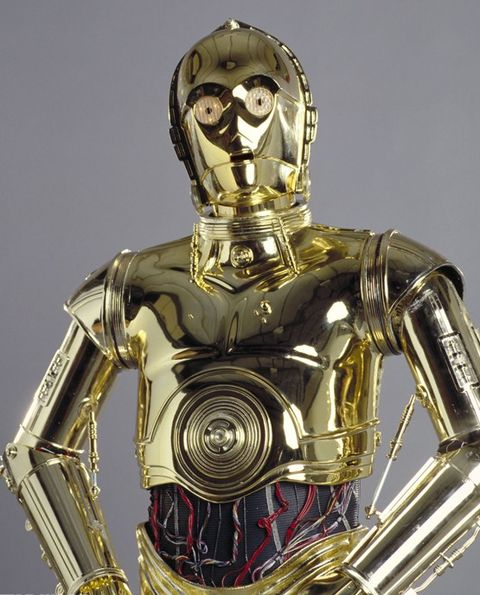 Joint, C-3po, Machine, Armour, Fictional character, Metal, Trunk, Sculpture, Robot, Toy,