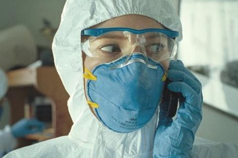 Safety glove, Glove, Service, Personal protective equipment, Medical, Surgeon, Moustache, Medical glove, Research, Mask,