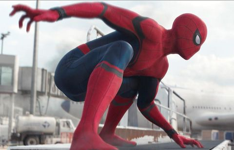Textile, Red, Spider-man, Aircraft, Airplane, Fictional character, Superhero, Carmine, Airline, Air travel,