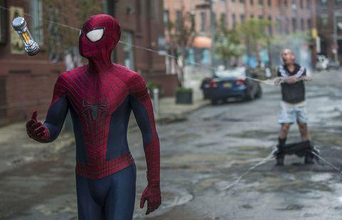 Spider-man, Red, Fictional character, Superhero, Carmine, Costume, Fiction, Hero, Animation,