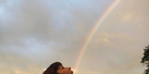 Daytime, Cloud, Rainbow, Photograph, Summer, Sunlight, Beauty, Long hair, Travel, Morning,