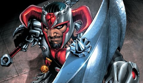 Fictional character, Hero, Carmine, Cartoon, Armour, Superhero, Avengers, Illustration, Action film, Fiction,