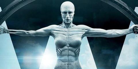 Shoulder, Joint, Chest, Muscle, Trunk, Art, Sculpture, Abdomen, Waist, Fictional character,