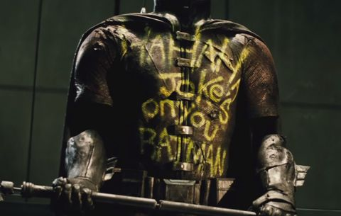 Darkness, Back, Active shirt, Action film, Fictional character, Bone, Shotgun, Fiction,